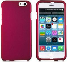 """myLife Dark Cerise Pink {Slim Sleek and Modern} 2 Piece Snap-On Rubberized Protective Faceplate Case for the NEW iPhone 6 (6G) 6th Generation Phone by Apple, 4.7"""" Screen Version """"All Ports Accessible"""" myLife Brand Products http://www.amazon.com/dp/B00U1WX6F8/ref=cm_sw_r_pi_dp_FVxhvb1SH96AR"""