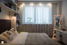 Mieszkanie w bloku - Mała sypialnia małżeńska, styl skandynawski - zdjęcie od Patyna Projekt