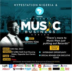 Uyo to host Music Business Series with Godwin Tom   Press Release: Music Business Series with Godwin Tom  The Nigerian music industry is one of the most vibrant industries in the world with artiste churning out records after records as day passes by but it is a thing of worry to know that artiste hardly live off their work and efforts.  However Akwa Ibom state Music artistes are not left out in all these as they fall victim to the ever-reoccurring mistakes made by artiste globally. This…