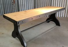 Hey, I found this really awesome Etsy listing at https://www.etsy.com/listing/150547753/ironclad-industrial-coffee-table-media