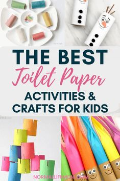 Easy and fun indoor toilet paper crafts and toilet paper roll activities activities for kids crafts Toilet Paper Roll Crafts And Activities Pig Crafts, Unicorn Crafts, Easy Crafts For Kids, Toddler Crafts, Crafts To Make, Toddler Fun, Rainbow Activities, Indoor Activities For Kids, Craft Activities