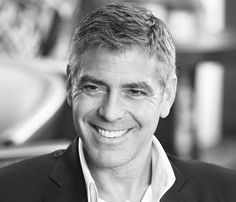 George Clooney... the one older man I know who can rock the grey hair and still be so handsome.
