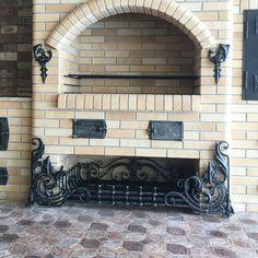 Фотографии Serega Plus – 4 770 фотографий Backyard Barbeque, Blacksmith Forge, Fire Surround, Blacksmith Projects, Iron Work, Brickwork, House And Home Magazine, Outdoor Cooking, Bed Design