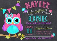 Búho cumpleaños invitación fiesta 5 x 7 o 4 x 6 por PrincessSnap