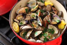 Steamed Garlic Ginger Clams | Savory Sweet Life - Easy Recipes from an Everyday Home Cook