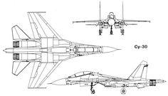 Учебно-боевой истребитель Су-30 на базе Су-27УБ