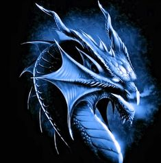 Cool Drawings Of Blue Dragons | blue dragon black design picture and wallpaper