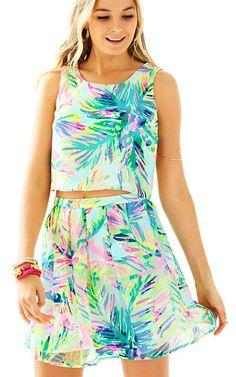 Lilly Pulitzer Hilah Crop Top Skirt Set