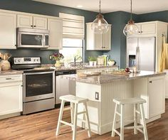 If We Do Colored Walls Then White Cabinets