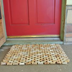 A personal favorite from my Etsy shop https://www.etsy.com/listing/61611966/doormat-made-from-recycled-wine-corks