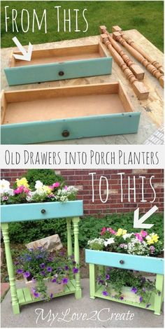 Make A Planter From Old Drawers