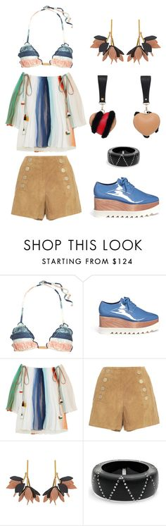 """""""Ethnic and free"""" by lovuee on Polyvore featuring ViX, STELLA McCARTNEY, Chloé, Marni, Alexis Bittar and Lovuee"""