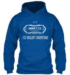 Annette Name Tshirt Royal Sweatshirt Front