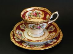 Vintage Royal Albert bone china trio LADY HAMILTON.  High tea