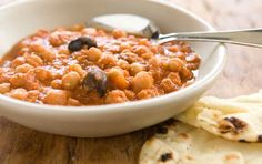 Chickpea & lentil stew. This hearty stew offers rich flavor at an approachable price. Warm pieces of naan bread make the perfect accompaniment.