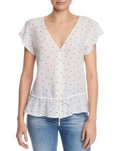 Chic Rails - Bretton Heart Peplum Silk Top Womens fashion Tops from top store Short Women Fashion, Womens Fashion, Sewing Blouses, Silk Top, Casual Tops, Clothing Patterns, Blouse Designs, Plus Size Fashion, Peplum