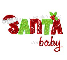 Santa baby Christmas machine embroidery design