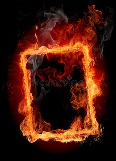 Fire frame stock photo. Image of burning, igniting, backgrounds - 7224506