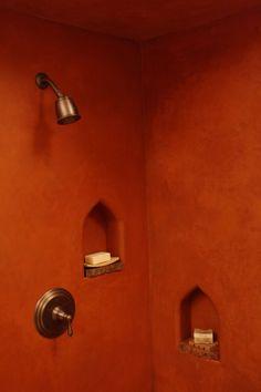 Tired of scrubbing grout?  Moroccan Lime Plaster - Tadelakt