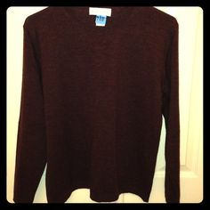 Brown scoop neck sweater. Size medium brown scoop neck sweater.  Recently dry cleaned and ready for a new home. Like new condition. Not worn much. Very soft. Casual corner  Sweaters Crew & Scoop Necks