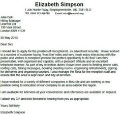 Delightful Receptionist Cover Letter Example