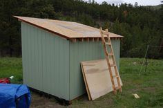 Posts about DIY Shed written by Montana Animal Farm Cheap Storage Sheds, Diy Storage Shed Plans, Building A Storage Shed, Cheap Sheds, Wood Storage Sheds, Outdoor Storage Sheds, Outdoor Sheds, Built In Storage, Fence Post Installation