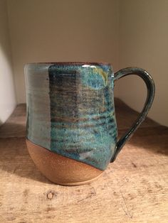 Large mug. Palladium over blue rutile