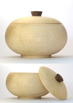 Wood Turning Projects, Projects To Try, Box With Lid, Wood Creations, Wood Bowls, Wood Lathe, Little Boxes, Wooden Boxes, Wood Crafts