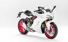 Descargar fondos de pantalla Ducati 939 SuperSport S, 2017, Carreras de motos, de deportes, motocicletas, italiano de motocicletas, Ducati