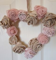 Shabby Chic Wreath ~ You CAN do this!! Great DIY!