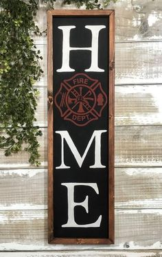 Firefighter Home Decor, Firefighter Gifts, Firefighter Family, Firefighter Wedding, Firefighter Quotes, Wood Signs For Home, Home Signs, Maltese Cross Firefighter, Fire Dept