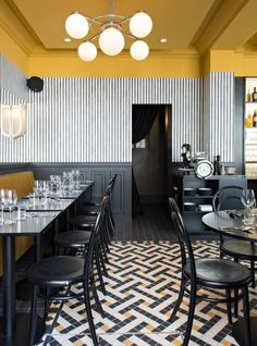 Bistro Epoca, Art Deco restaurant in Paris, design by Emily Bonaventure Interior Design Minimalist, Restaurant Interior Design, Best Interior, Interior Design Kitchen, Modern Interior Design, Interior Decorating, Decorating Ideas, Luxury Interior, Restaurant Interiors