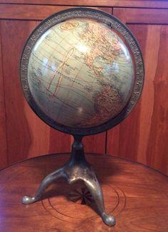 Very scarce Star Eraser school globe, 1888 Seneca Falls NY