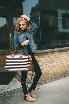STRIPES DUFFEL BAG