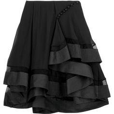 Chloé Flippy mini skirt |NET-A-PORTER.COM ($2,155) ❤ liked on Polyvore featuring skirts, mini skirts, bottoms, black, saias, women skirts, net skirt, black skirt, mini skirt and black mini skirt