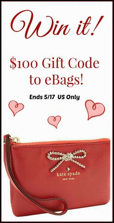 Style, Decor & More: Win a $100 eBags Gift Code! {Ends 5/17} US. TONIGHT!!!!******* http://www.styledecordeals.com/2014/05/win-100-ebags-gift-code-ends-517-us.html?m=1