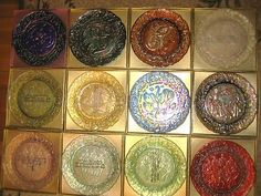 Imperial Carnival Glass 12 Days of Christmas plates