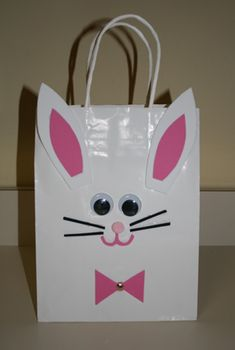 Easter Bunny Bag Craft. Great for making then using for an egg hunt