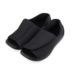 62f3a1952d Buy Men's Diabetic Footwear Extra Wide Slippers Adjustable Orthopedic Shoes  Open Toe for Diabetic & Edema Elderly Men