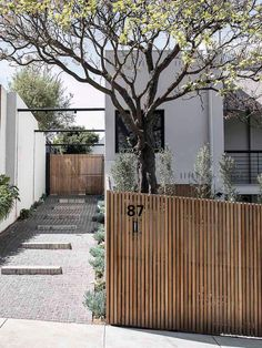 modern gate + house number