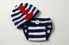 Newborn Photo Prop, Nautical Baby Set, Anchor Hat Diaper Cover Set, Crochet Baby Outfit, Nautical Newborn Outfit, Red White Blue 4th of July by ToryMakes on Etsy https://www.etsy.com/listing/234705371/newborn-photo-prop-nautical-baby-set