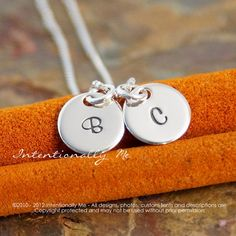 Hand Stamped Mommy Necklace   Personalized by IntentionallyMe This is too cute!! I❤this Necklace.  Great gift to a Mother of TWINS❤❤