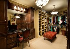 Wardrobe with built in make-up vanity...