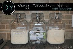 DIY Kitchen Canister Labels (Free Silhouette .Studio File) ~ Silhouette School