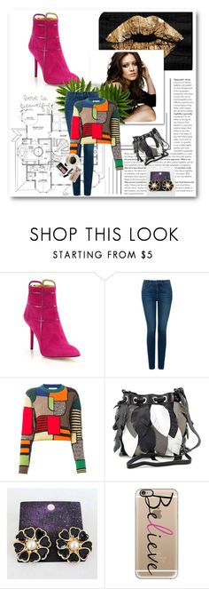 """""""Untitled #860"""" by krissybob ❤ liked on Polyvore featuring Charlotte Olympia, Oliver Gal Artist Co., NYDJ, Moschino, Carlos Falchi, Starry, Bobbi Brown Cosmetics and Casetify"""