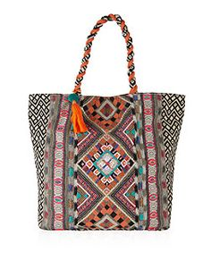 Orange Embroidered Tote Bag  | New Look