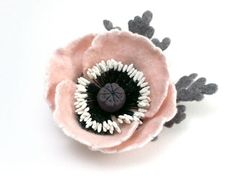 These felt flowers are beautiful...read this interview to meet the makers!