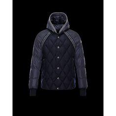Moncler ARAMIS Turtleneck Dark Blu Piumini Flannel Wool Uomo 41456790QT - Nuovi Moncler Piumini Uomo Outlet