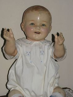 "Antique Fiberoid Composition Boy Doll 22"" 56 cm Adorable Must See | eBay"