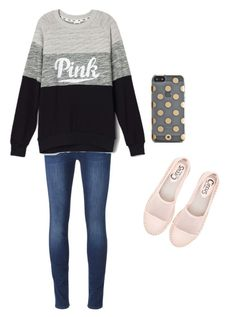 """"""""""" by brisabella ❤ liked on Polyvore featuring beauty, 7 For All Mankind, Circus By Sam Edelman and Kate Spade"""